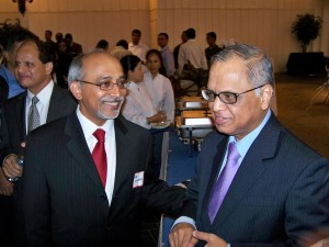 With N R Narayanamurthy of Infosys